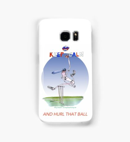 Keep Calm and hurl that ball - tony fernandes Samsung Galaxy Case/Skin