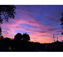 Purple, Orange, Pink Sunset Photographic Print