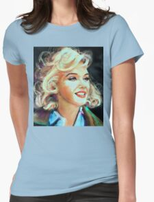 Marilyn Blue Womens Fitted T-Shirt