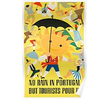 No Rain In Portugal Vintage Travel Poster Poster