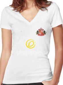 Premier League football - Sunderland A.F.C. Women's Fitted V-Neck T-Shirt