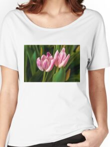 2 PINK TULIPS Women's Relaxed Fit T-Shirt