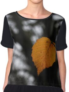 Lonely Little Leaf Chiffon Top