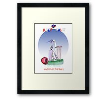 Keep Calm and play the ball - tony fernandes Framed Print