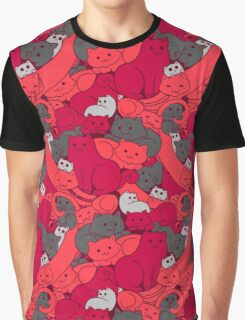 Purrrfect Pattern (Red) Graphic T-Shirt