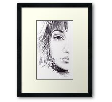 Winged Sketch Framed Print