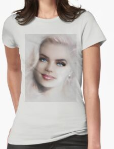 Blue Eyes Blond  Womens Fitted T-Shirt