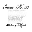 Shakespeare Sonnet No. 30 by Sally McLean