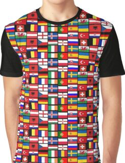2016 Football country flags pattern Graphic T-Shirt