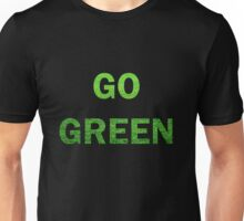 "Wording ""GO GREEN"" made from green grass photo Unisex T-Shirt"