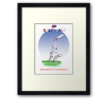 Keep Calm and protect your bails - tony fernandes Framed Print