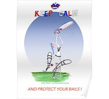 Keep Calm and protect your bails - tony fernandes Poster
