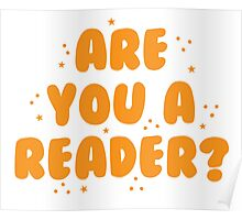 are you a reader? Poster