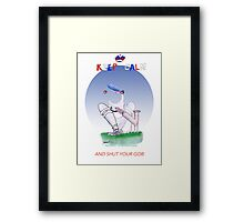 Keep Calm and shut your gob - tony fernandes Framed Print