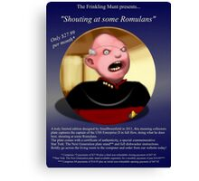 Shouty Picard comedy commemorative plate. (It's not a real plate.) Canvas Print