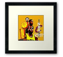 NBA Champions 2016 Cleveland Cavaliers Framed Print