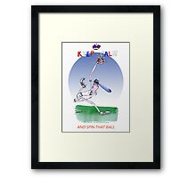 Keep Calm and spin that ball - tony fernandes Framed Print