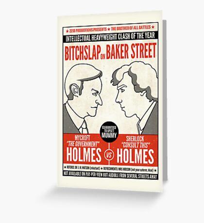 Bitchslap on Baker Street (card) Greeting Card