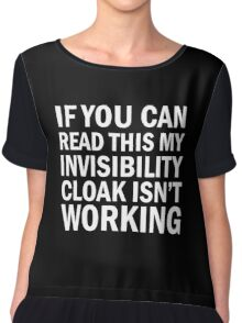 Harry Potter  - Invisibility Cloak Malfunction [Dark Edition] Chiffon Top