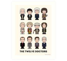 The Twelve Doctors (poster or print) Art Print