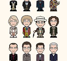 The Twelve Doctors (poster or print) by redscharlach
