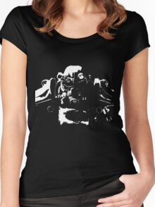 Fallout 4 Power Armour Cutout Women's Fitted Scoop T-Shirt