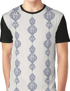 Navy Doodle on Grey Graphic T-Shirt