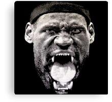KING LEBRON JAMES NBA Canvas Print