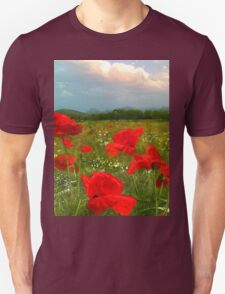 I Love Poppies  Unisex T-Shirt