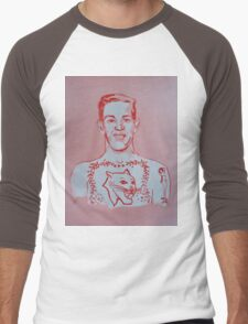 TATTOOED SAILOR (GRIN) Men's Baseball ¾ T-Shirt