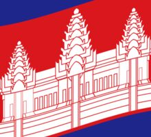 Cambodian Khmer Flag Wave Sticker