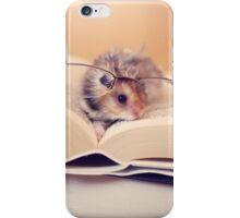 Hamster The Reader II iPhone Case/Skin