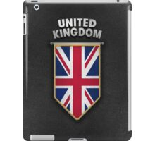 UK Pennant with high quality leather look iPad Case/Skin