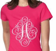 Monogram Letter A Womens Fitted T-Shirt