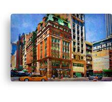 Manhattan Street Scene Canvas Print