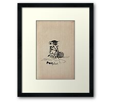 Purrfect Framed Print