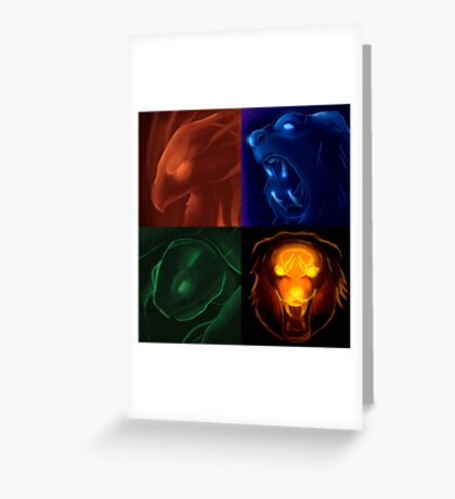 The four icons of Udyr Greeting Card