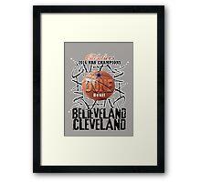 cleveland champions Framed Print