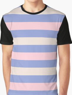 Elegant Pink and Purple fashion Stripes Navy Pastel Eco Collection Graphic T-Shirt