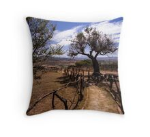 Wooden Alley 2 - Travel Photography Throw Pillow