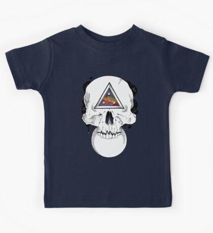 Surreal Dotwork Skull Kids Tee