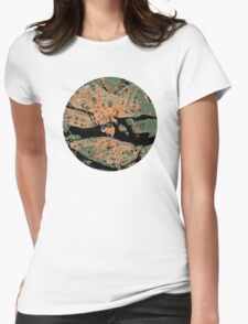 Stockholm city map orange Womens Fitted T-Shirt