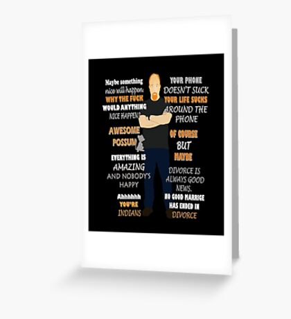 Louis C.k Quote Greeting Card