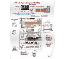 Pegasus Bridge 1/300 Wargaming model Poster