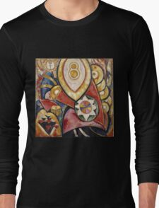 Marsden Hartley - Painting No. 48. Abstract painting: abstract art, geometric, expressionism, composition, lines, forms, creative fusion, spot, shape, illusion, fantasy future Long Sleeve T-Shirt