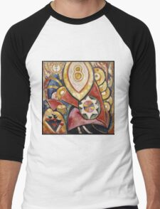 Marsden Hartley - Painting No. 48. Abstract painting: abstract art, geometric, expressionism, composition, lines, forms, creative fusion, spot, shape, illusion, fantasy future Men's Baseball ¾ T-Shirt