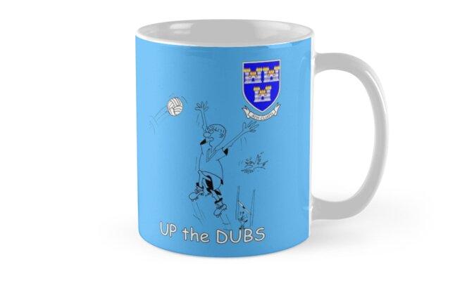 Up the Dubs (Dublin GAA football) T-Shirt by Declan Carr