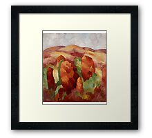Marsden Hartley - Mountains. Mountains landscape: mountains, rocks, rocky nature, sky and clouds, trees, peak, forest, rustic, hill, travel, hillside Framed Print
