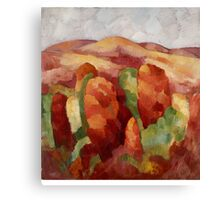 Marsden Hartley - Mountains. Mountains landscape: mountains, rocks, rocky nature, sky and clouds, trees, peak, forest, rustic, hill, travel, hillside Canvas Print
