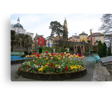 Flowers at Portmeirion Canvas Print
